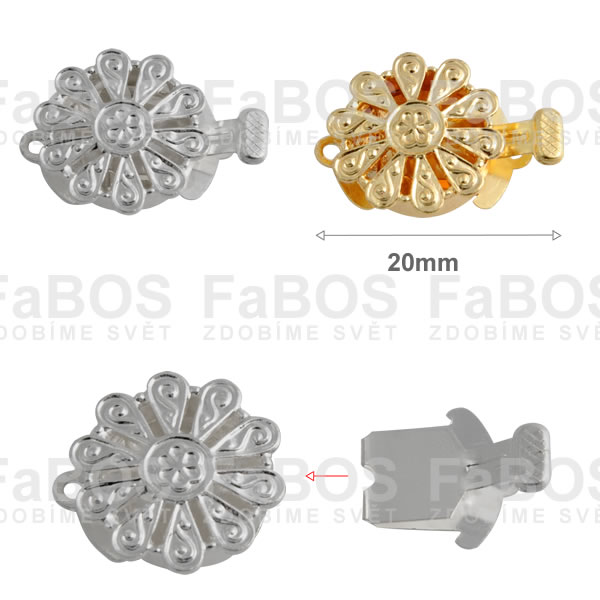 Bižuterní zapínání Bižuterní zapínání mechanické 20mm B - FaBOS
