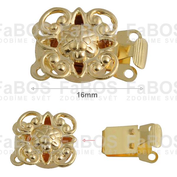 Bižuterní zapínání Bižuterní zapínání mechanické 16mm A - FaBOS