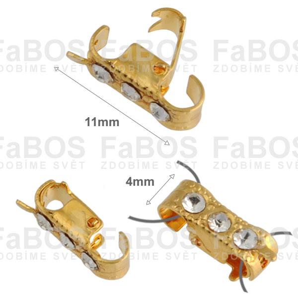 Bižuterní zapínání Bižuterní zapínání překlápěcí 11mm B - FaBOS