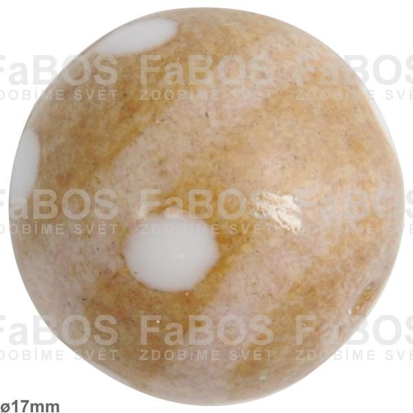 Vinuté korálky Korálek vinutý hnědá písková kulička - FaBOS