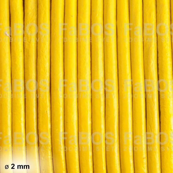 Kůže Kulatá kůže 2 mm žlutá - FaBOS