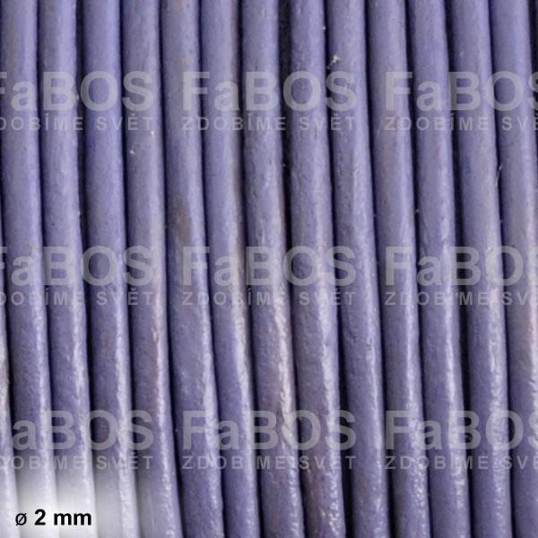 Kůže Kulatá kůže 2 mm fialová - FaBOS