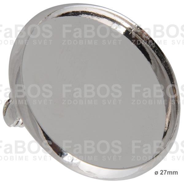 Lůžka epoxy čočky Lůžko epoxy čočka kulaté brož 27mm - FaBOS