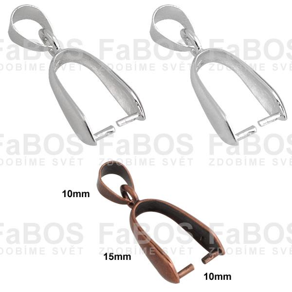 Bižuterní šlupny Bižuterní šlupna litina 25x10mm - FaBOS