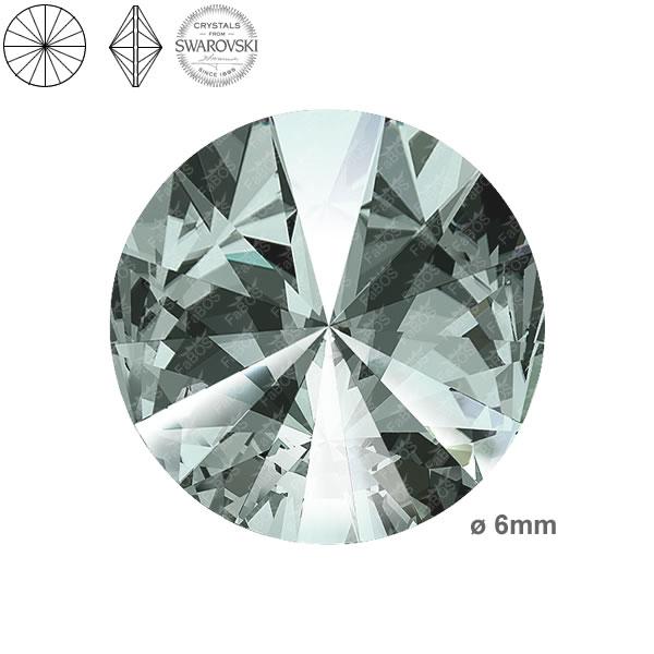 Swarovski Rivoli 1122 Swarovski Rivoli Black diamond 06mm - FaBOS