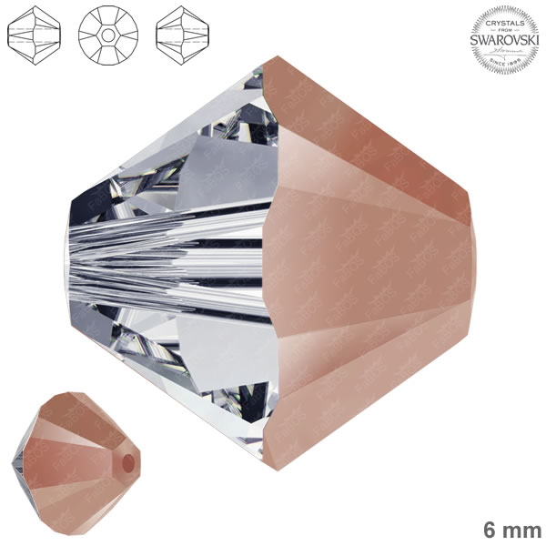 Swarovski Xilion Bead 5328 Swarovski Xilion Bead Rose Gold 6mm - FaBOS