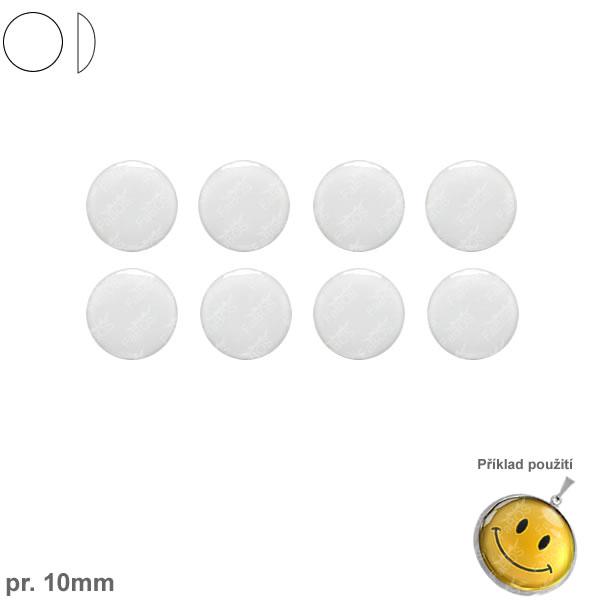 Lůžka epoxy čočky Epoxy čočka kulatá pr. 10 mm samolepící - FaBOS