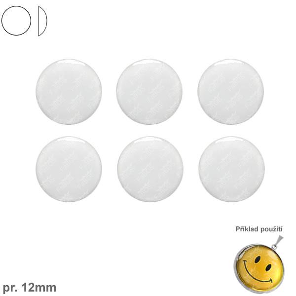 Lůžka epoxy čočky Epoxy čočka kulatá pr. 12 mm samolepící - FaBOS