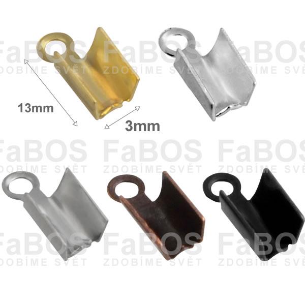 Bižuterní koncovky Plochá bižuterní koncovka zamačkávací 3 - FaBOS