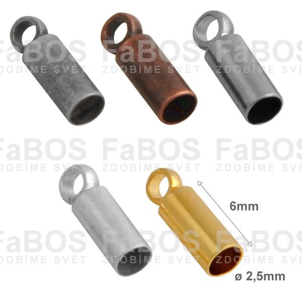 Bižuterní koncovky Kulatá bižuterní koncovka lepící 2,5mm - FaBOS