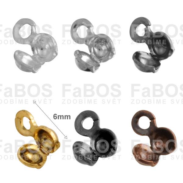 Bižuterní kaloty Bižuterní kalota 6mm očko - FaBOS