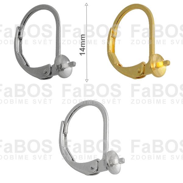 Náušnicové klapky Náušnice klapka malá na perličku - FaBOS