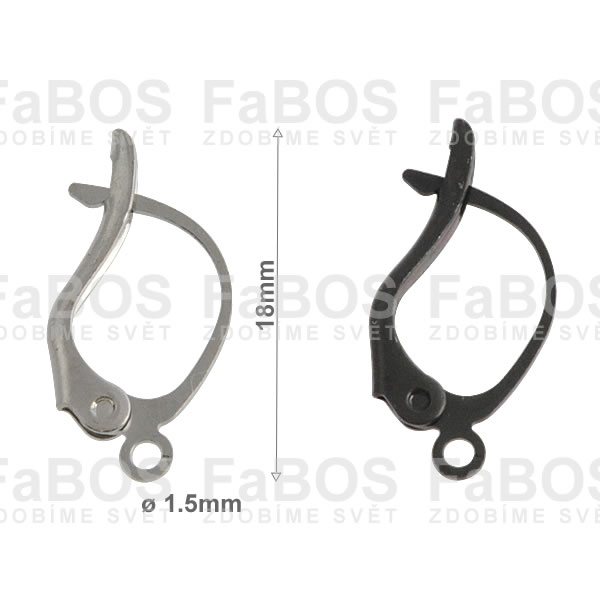 Náušnicové klapky Náušnice klapka větší s očkem - FaBOS