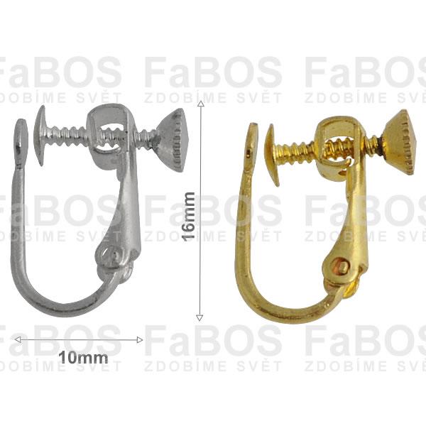 Náušnicové klapky Náušnice šroubovací klapka velká - FaBOS