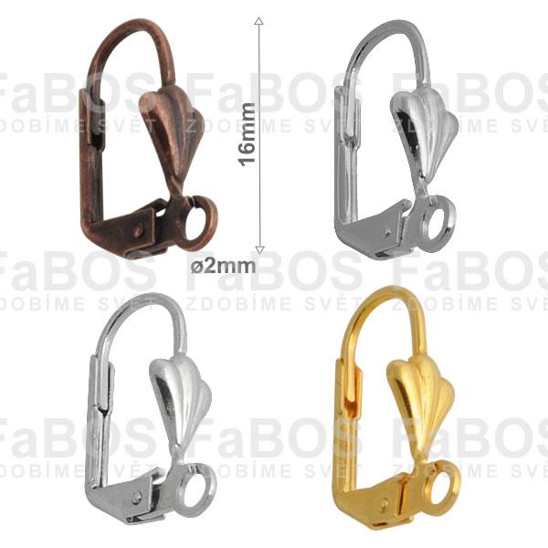 Náušnicové klapky Náušnice klapka mušle s očkem - FaBOS