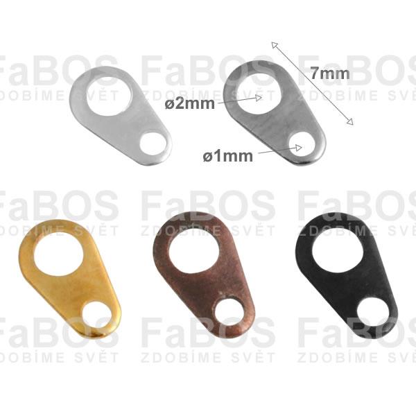 Bižuterní protikroužky a protidíly Bižuterní protidíl plochý 7mm - FaBOS
