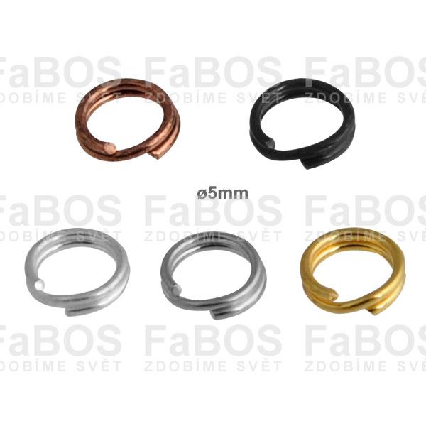 Bižuterní protikroužky a protidíly Bižuterní protikroužek pérový 5mm - FaBOS