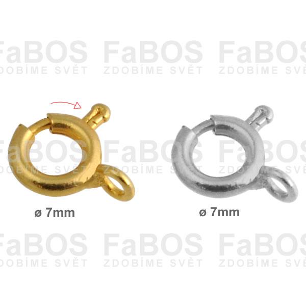 Bižuterní zapínání Bižuterní zapínání pérová záponka 7mm - FaBOS