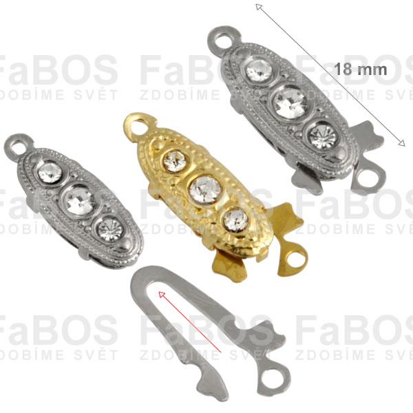 Bižuterní zapínání Bižuterní zapínání mechanické 18mm E - FaBOS