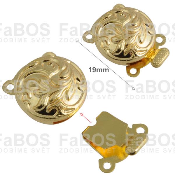 Bižuterní zapínání Bižuterní zapínání mechanické 19mm listy - FaBOS