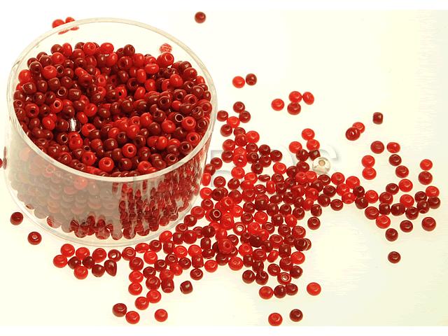 Rokajlové korálky Červený mix(8) - FaBOS