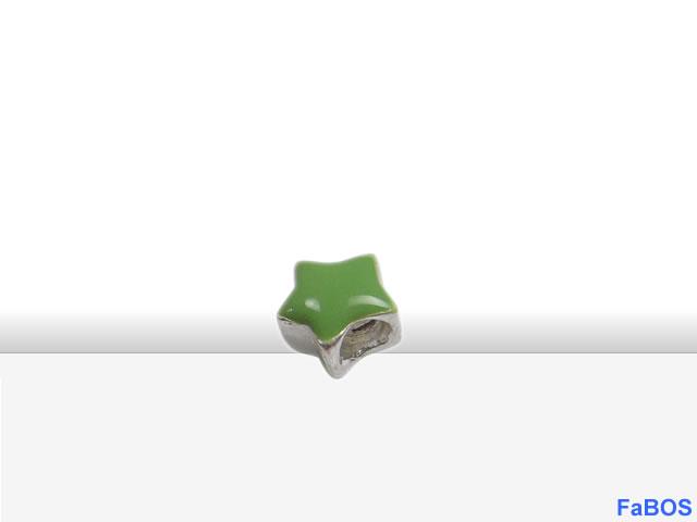 Korálky s velkou dírou Hvězdička zelená - FaBOS