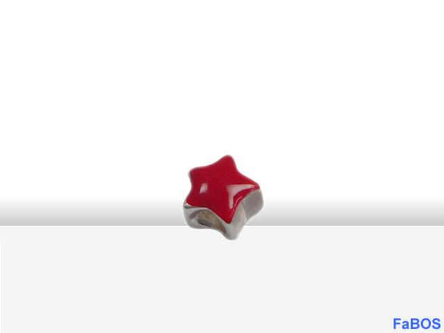 Korálky s velkou dírou Hvězdička červená - FaBOS