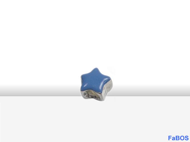Korálky s velkou dírou Hvězdička modrá - FaBOS