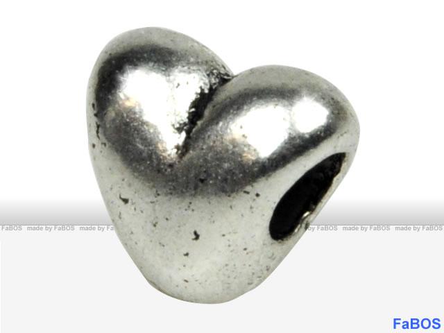 Korálky s velkou dírou Srdce - FaBOS