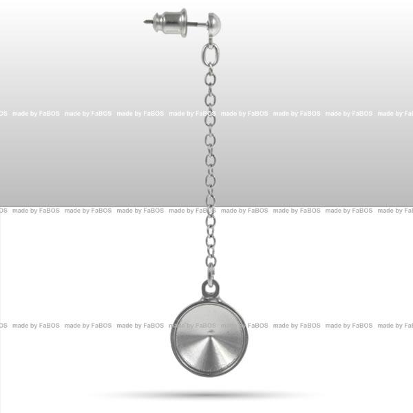 Náušnice půlkulička Komponent Swarovski náušnice Rivoli 12mm rám - FaBOS