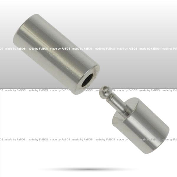 Bižuterní zapínání Koncovka kulatá - 3mm - FaBOS