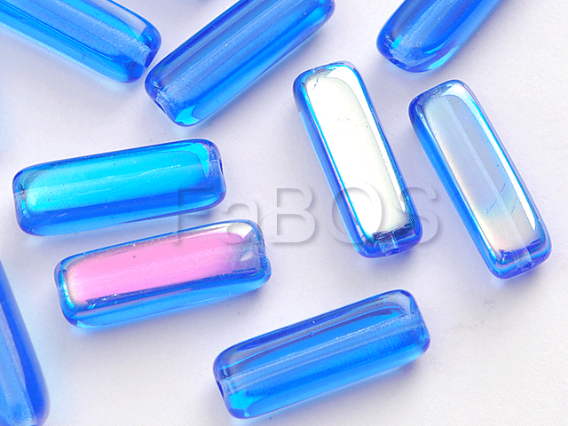 Mačkané korálky Korálek mačkaný 15x05mm modrá AB - FaBOS