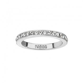 Prsten s šatony Rh Crystal SWAROVSKI