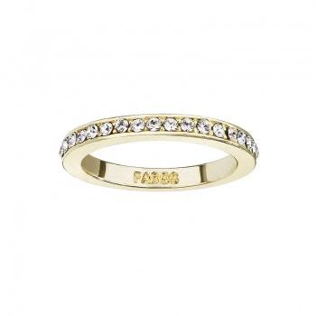 Prsten se šatony pozlacený Crystal SWAROVSKI