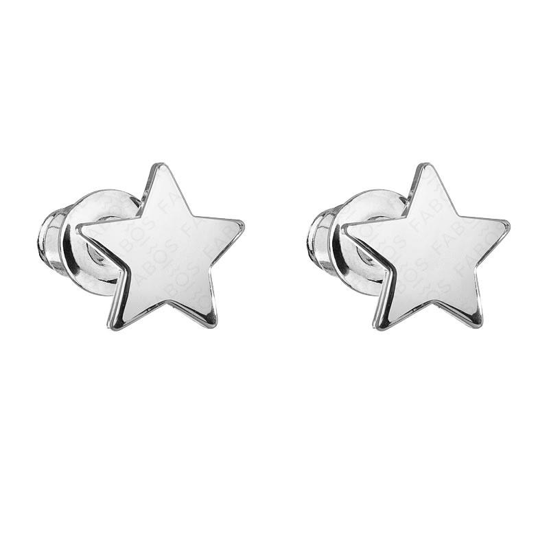 Náušnice Hvězdička Rh