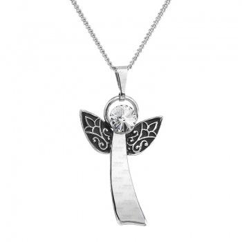 Náhrdelník Anděl štěstí crystal FABOS