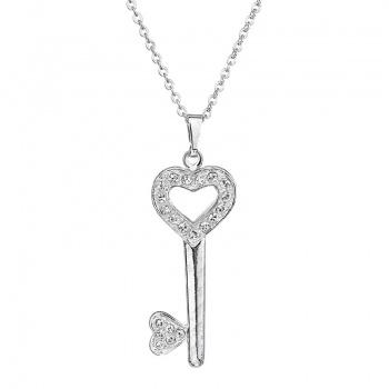Náhrdelník klíček s šatony Crystal SWAROVSKI