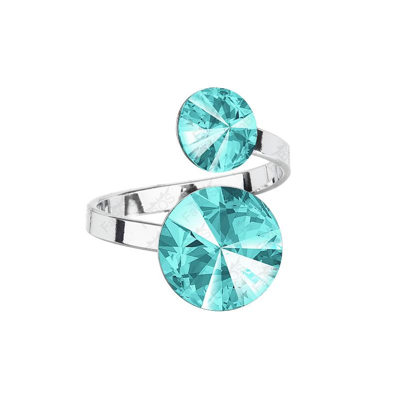 Prsten Rivoli 8-12 Light Turquoise SWAROVSKI