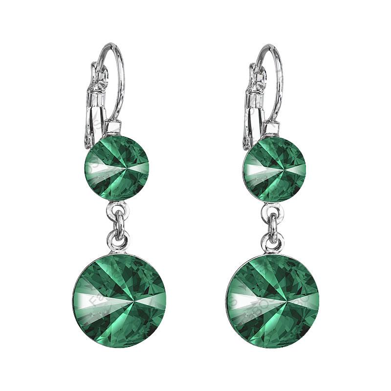 Náušnice Rivoli 8-12 Emerald SWAROVSKI