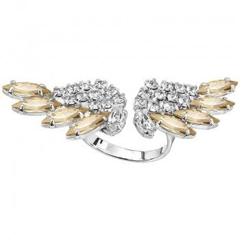 Prsten Andělská křídla Golden Shadow SWAROVSKI