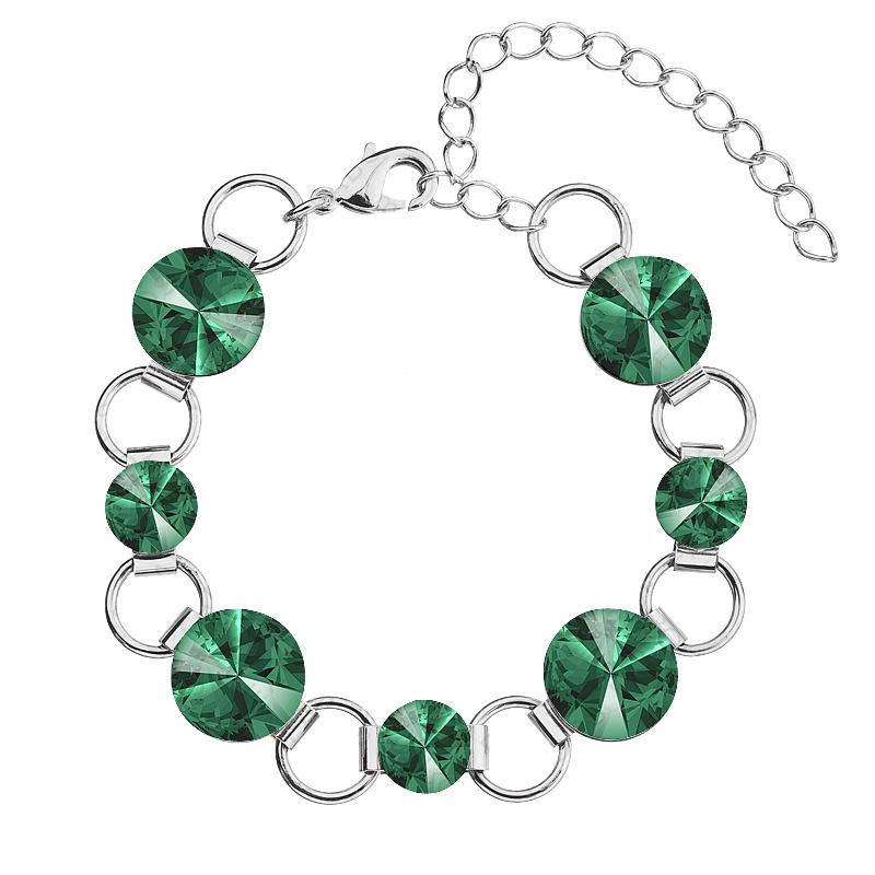 Náramek Rivoli 8-12 Emerald Swarovski elements