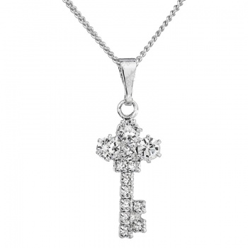 Náhrdelník Klíč s šatony Crystal SWAROVSKI