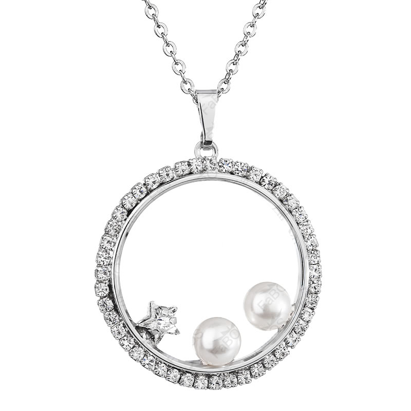 Náhrdelník Kruh s perlemi Crystal SWAROVSKI