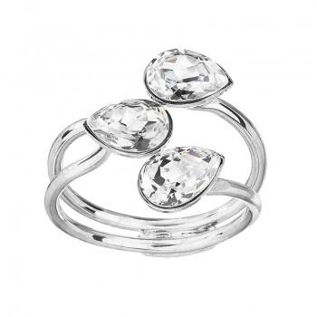 Prsten Tři hrušky Crystal SWAROVSKI