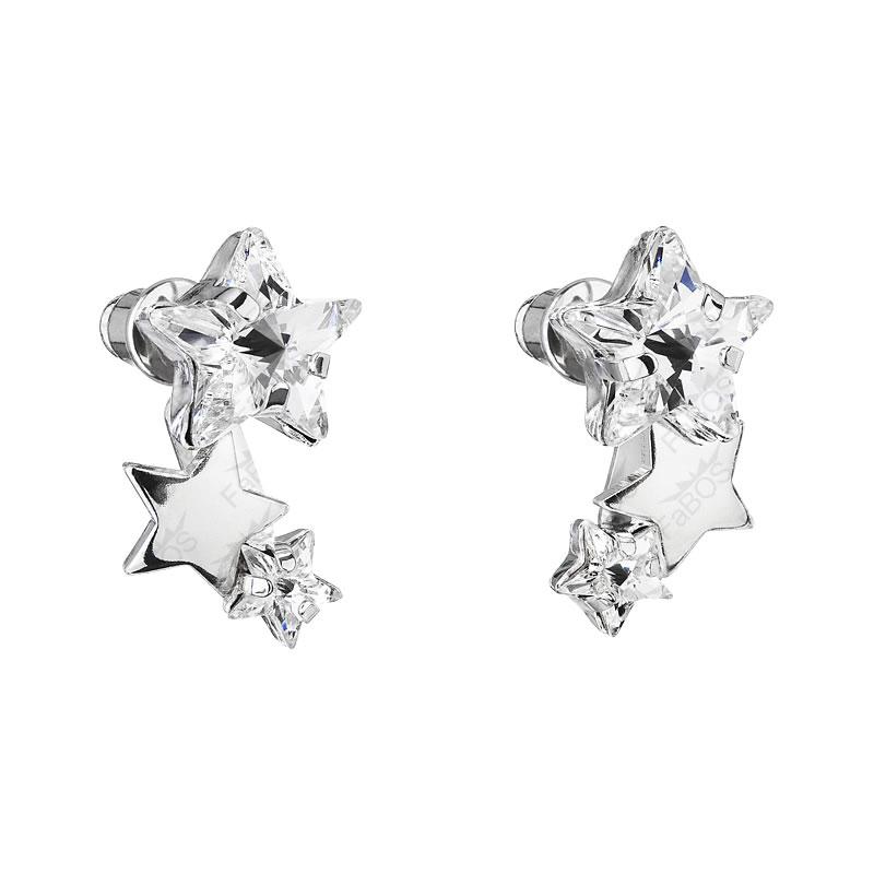 Náušnice 3x Hvězda Crystal SWAROVSKI