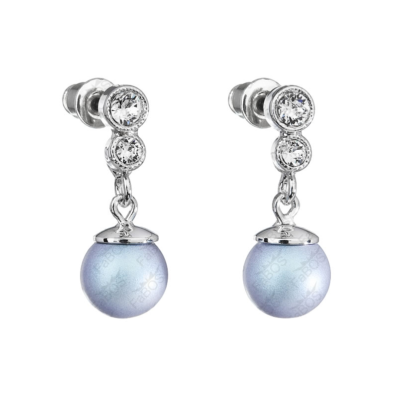 Náušnice Perla 8mm Light Blue SWAROVSKI