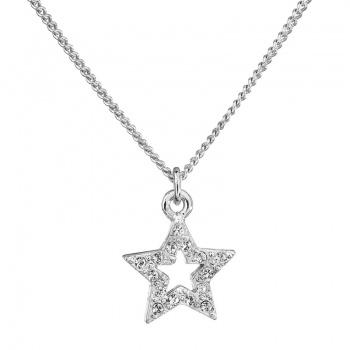 Náhrdelník Hvězda s šatony Crystal SWAROVSKI