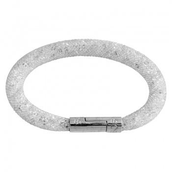 Náramek Crystal Tube 19 cm bílá