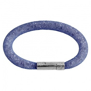 Náramek Crystal Tube 19 cm tmavě modrá