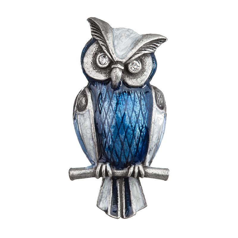 Brož sova výr modrá